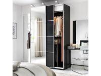 IKEA Pax Black Sliding Door Wardrobe