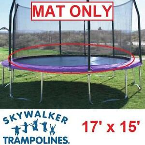 """NEW ST 17' x 15' REPLACEMENT MAT - 113302821 - SKYWALKER TRAMPOLINES -  USED WITH 7"""" SPRINGS - MAT ONLY REPLACEMENTS ..."""