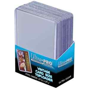 Ultra Pro ... VINTAGE top loaders ... & card sleeves .. & sheets