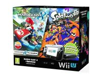 Nintendo Wii U Mario Kart 8 + Splatoon Wii U Premium Pack with other games including lego dimensions