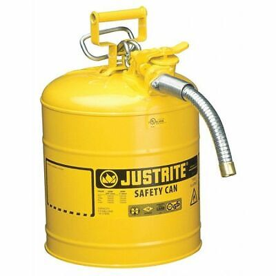 Justrite 7250230 5 Gal. Yellow Steel Type Ii Safety Can For Diesel