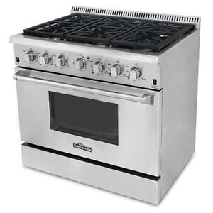NEW THOR NATURAL GAS PROPANE 36″ STAINLESS STEEL OVEN RANGE PROP