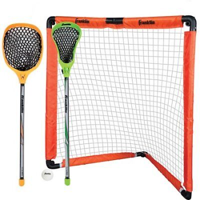 Franklin Sports Youth Lacrosse Goal and Stick Set W Franklin Lacrosse Stick