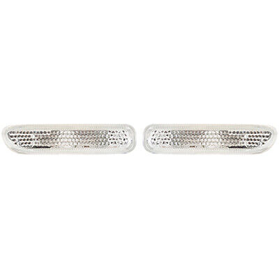 Fits 1999-2006 BMW 323i Pair Side Signal Lights Driver and RH Coupe; E46; -