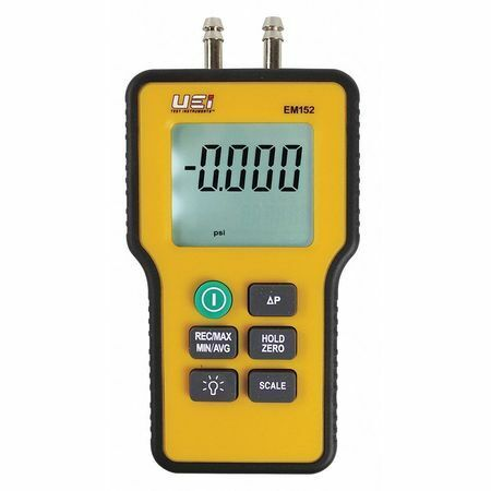 Uei Test Instruments Em152 Dual Differential Input Manometer,9V