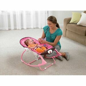 Fisher-Price Infant to Toddler Rocker, Pink Owls