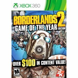 Recherche Bordelands 2 Game of the years edition Xbox 360