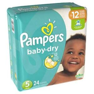 PAMPERS SIZE 5 DIAPERS.