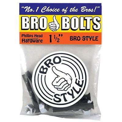 "Bro Style Bro Bolts Skateboard Bolts Phillips Head 1.5"""