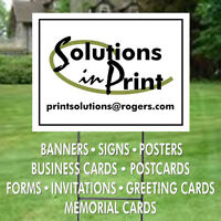 BANNERS POSTERS SIGNS MAGNETS