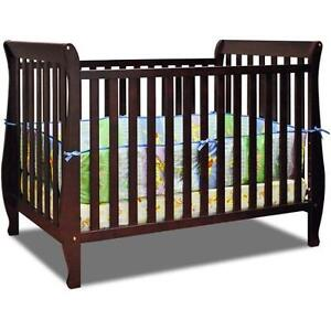 4-in-1 Convertible Crib with Toddler Rail + Safety 1st Mattress