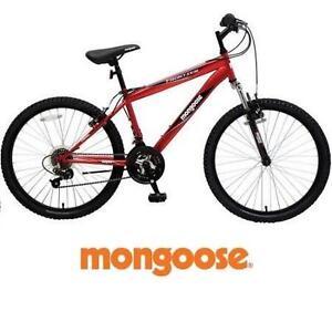 "NEW* MONGOOSE 24"" FRONTIER BIKE - 115805370 - MOUNTAIN BIKE - BOY'S MEN'S - RED - BICYCLE"
