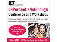 #9PERCENTISNOTENOUGH / WOMEN IN ENGINEERING CONFERENCE / BIRMINGHAM 23 JUNE