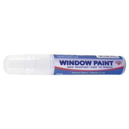 COSCO 038873 Paint Marker, Broad Tip, White