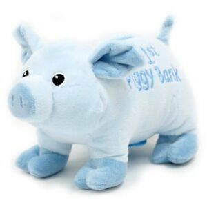 Brand new w/tags, fluffy piggy banks, pink or blue