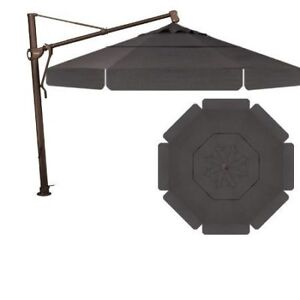 Treasure Garden 11' Cantilever Umbrella - Walnut Brown