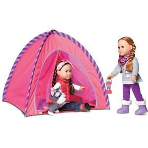 "Nearly New 18"" Doll Camping Set"