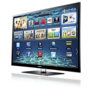 """Samsung 60"""" Plasma 3D Smart TV with wall mount/stand"""