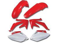 New Acerbis Plastic Kit CRF 450 R 05-06 OEM White/Red Motocross Plastics