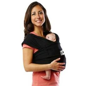 Black baby sling carrier