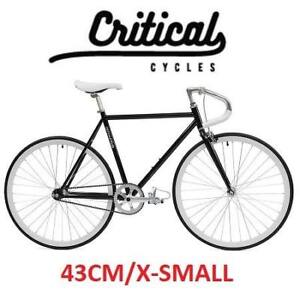 NEW CRITICAL CYCLES FIXED GEAR BIKE 1163 182341435 60CM X-SMALL EXTRA SMALL HUNTER GREEN BICYCLE