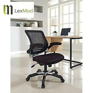 NEW LEXMOD EDGE OFFICE MESH CHAIR BLACK MESH OFFICE CHAIR WITH FABRIC SEAT 102070260