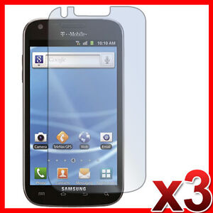 3X CLEAR LCD SCREEN PROTECTOR COVER FILM FOR T-MOBILE SAMSUNG GALAXY S2 SII T989