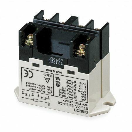 Omron G7l-1A-Bubj-Cb-Ac100/120 Enclosed Power Relay,4 Pn,120Vac,Spst-No