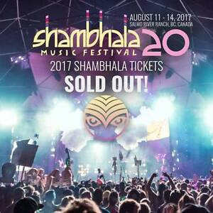 Shambhala Music FESTIVAL HARD COPY TICKETS (2017) Regina Regina Area image 1