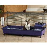 BEAUTIFUL RABBIT CAGE WITH WHEELS + ACCESSORIES