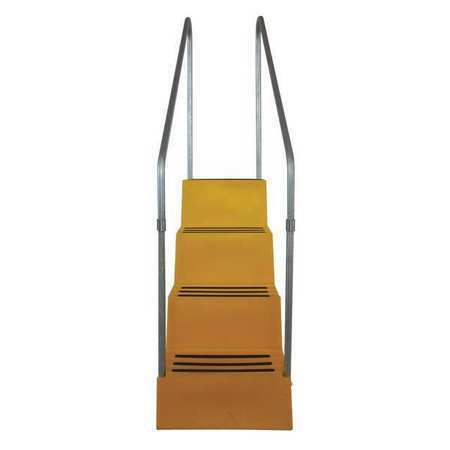 Dpi T445-14 4 Steps, Plastic Step Stand, 500 Lb. Load Capacity, Yellow