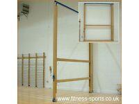 Two Wooden Gymnastic Balance Beams
