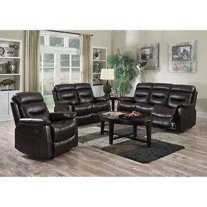 NEW!!! 3 PIECE LEATHERETTE RECLINER SOFA SET