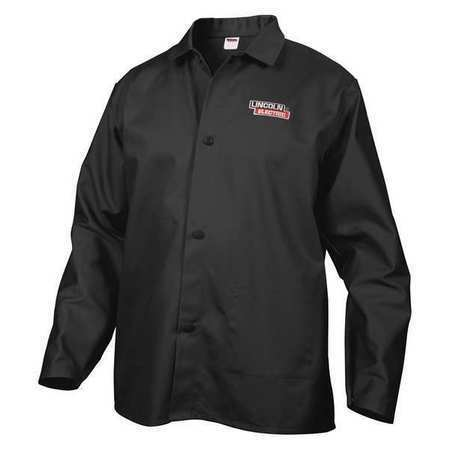 Lincoln Electric Kh808xl Welding Jacket,Black,Xl,33 In. L