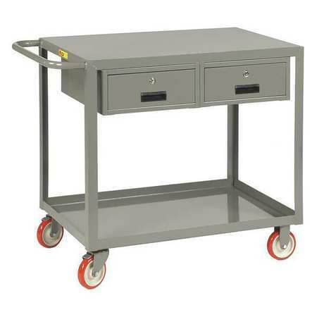 """LITTLE GIANT LG-2436-BK-2DR Mobile Workbench, 35"""" H x 24"""" W x 42"""" L, Number of"""