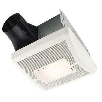 "BROAN A70L Ceiling Bathroom Fan, 70 cfm, 4"" Duct Dia., 120v,"
