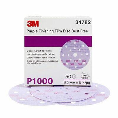 Hookit Finish Film Disc Dust Free 6in P1000 50 Discspkg
