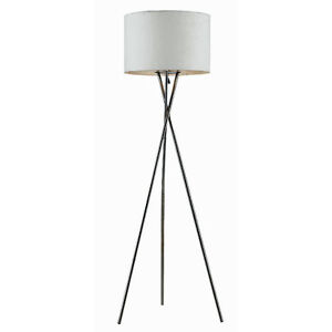 Floor lamp base ebay for Tripod floor lamp silver base white shade