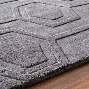 NEW Wool grey handwoven rug 230cm x 290cm Prahran Stonnington Area Preview