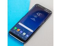 samsung s8 with 32gb memory card 400 like new