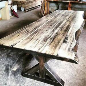 LIVE Edge Dining Table - Delivery Available Across BC
