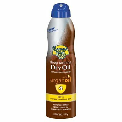 Deep Tanning Dry Oil - Banana Boat Deep Tanning Dry Oil Clear Spray Sunscreen SPF 4 - 6 Ounces W