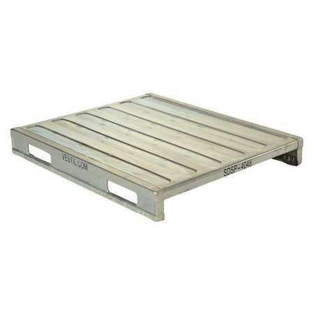 VESTIL SDSP-4048 Solid Steel Deck Pallet,40 x 48 x 6
