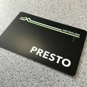 Selling an unregistered presto card