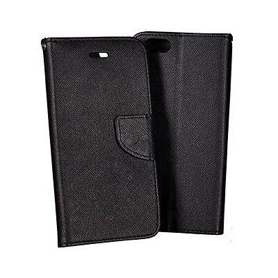 Samsung Galaxy S4 Mini i9190 Etui Folio à clapet - Noir/Noir - AirBook - Phonit