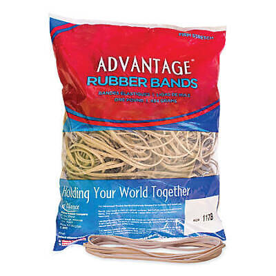 Advantage Rubber Bands Large Size 117b Crepe 7x18 Heavy Duty Made In Usa
