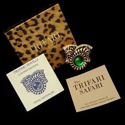 Trifari Safari Zebra Brooch/Pendant with Original Box and Card