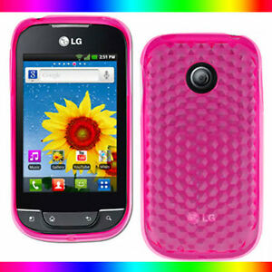 Pink Gel Jelly Cover Case LG P690 Optimus Spirit