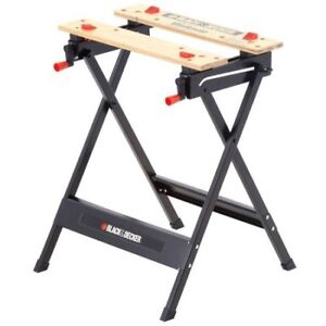 Portable Black & Decker Folding Workmate Work bench & Vise Tool