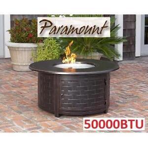 NEW 50000BTU ALUMINUM FIRE PIT FP-285 209279539 ZACH ROUND OUTDOOR PATIO WARMTH HEAT HOME HOUSE PARAMOUNT